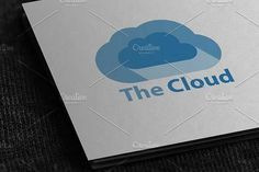 Cloud Logo by Mihaly on @creativemarket #3dprintingbusiness