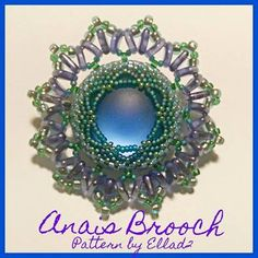 Beautiful colors! Anais Brooch beaded by Natalie Chávez. Thank you for sharing!