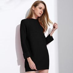 0bf3204055f  EBay  Robe Pull Femme Sweater Dress Women Winter Sweaters And Long  Pullover Womens Jumpers