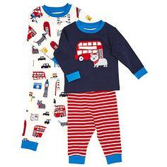 Buy John Lewis Baby Dog and London Pyjamas, Pack of 2, Navy Online at johnlewis.com