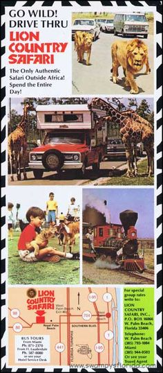 Swampy's #Florida Tuesday Ads: Lion Country Safari, 1970s- The other side.- http://swampysflorida.com/?p=7749