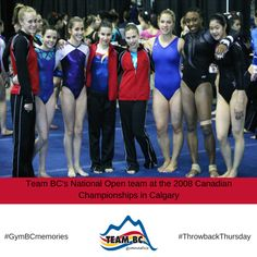#TBT to Team BC's National Open team at the 2008 Canadian #Gymnastics Championships!  #GymBCmemories
