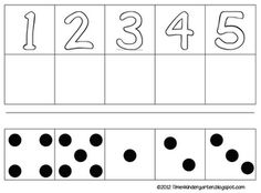 Time 4 Kindergarten: Counting 1-5 FREEBIE laminate and use velcro dots for the bottom boxes