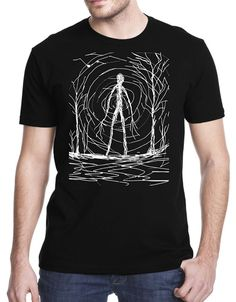 T-Shirt Short Sleeve Fashion Tshirt Tee Shirt Creepy Slender Man Short-Sleeved Man  Tee Shirt