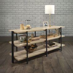 Retro Home Decor, Home Decor Items, Diy Home Decor, Bar Shelves, Shelving, Display Homes, Wood And Metal, Black Metal, Office Decor