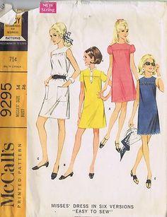 Vintage Sheath Dress 1960s Sewing Pattern McCall 9295 Size 14 Bust 36 Hip 38 Cut   eBay