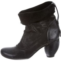 Pre-owned Marsèll Boots (435 CAD) ❤ liked on Polyvore featuring shoes, boots, ankle booties, black, black boots, black bootie, leather boots, black leather bootie and black leather ankle booties