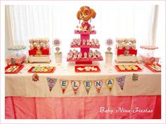 mesa dulce patrulla canina Puppy Party, Desert Recipes, Baby Shower, Paw Patrol, Creative Food, Cake Art, Cookie Decorating, Birthday Cake, Table Decorations