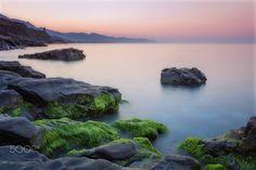 Sunrise in the coast - Sunrise in the coast of Málaga, Spain. Amanece en Calaceite, Málaga España.