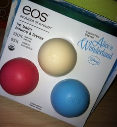 EOS Alice in Wonderland lip balm collection. If someone sees this, please pick it up for me!! :D