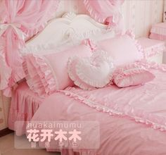 chic pink bed set