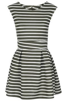 **Stripe Skater Dress by Wal G
