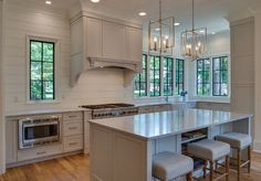 Pale Gray Kitchen with white shiplap backsplash. Pale Gray Kitchen with white shiplap backsplash ideas. Pale Gray Kitchen with white shiplap backsplash. Pale Gray Kitchen with white shiplap backsplash ideas #PaleGrayKitchen #whiteshiplapbacksplash #shiplapbacksplash #kitchenshiplapbacksplash #kitchenshiplapbacksplash Tammy Coulter Design - Grandfather Homes