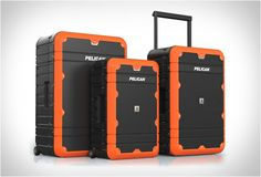 PELICAN ELITE LUGGAGE  With double wall construction to withstand extreme loads, and a watertight O-ring seal, this luggage can resist everything on the open road and water, while still being surprisingly light in your hand. Available in several colors.