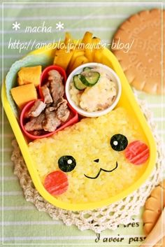 Pikachu bento  #Japanese Bento Lunch                                                                                                                                                                                 More