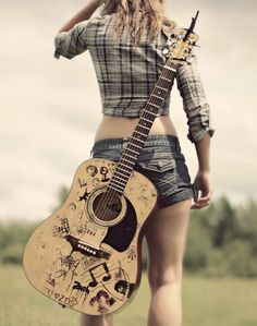 Learn how to play the acoustic guitar with all of these straightforward tips. Playing a guitar is not hard to understand, and may open up a great number of musical doorways. Guitar Diy, Cool Guitar, Guitar Shop, Pub Radio, Message Vocal, Guitar Photography, Wedding Photography, Guitar Painting, Learn To Play Guitar