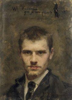 Émile Friant · Autoritratto · 1880 · Collezione privata