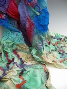 Nuno Felted Scarves - Felted Art to Wear | a mano studios