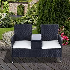Red Replacement Seat Cushion For Garden Rattan Chair Outdoor Patio Furniture,  Pack Of 2 | Patio Furniture | Pinterest | Seat Cushions