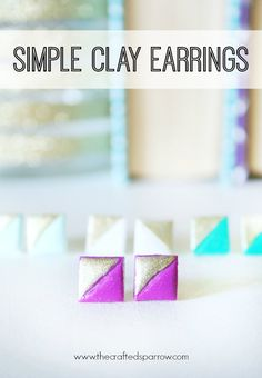 Jewelry Making | Simple Clay Earrings