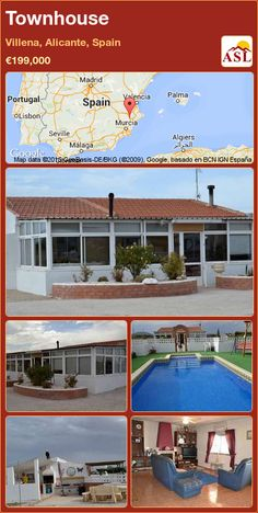 Townhouse for Sale in Villena, Alicante, Spain with 4 bedrooms, 2 bathrooms - A Spanish Life Murcia, Valencia, Portugal, Water Type, Alicante Spain, Septic Tank, Wood Burner, Fruit Trees, Ceiling Fan