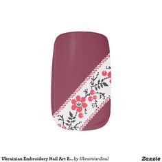 CLICK ON MINX TO PURCHASE. Ukrainian Embroidery Nail Art Blooming Kalyna Minx® Nail Wraps