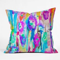 Amy Sia Summer Ikat Throw Pillow | DENY Designs Home Accessories