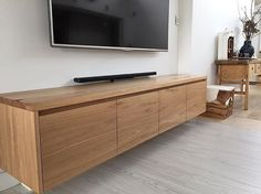 Another installed #blackbutt wall hung #entertainment unit to finish off the week.   #tgif #timber #fridayfeels #wood #built #custom #handmade #furniture #fortheloveofwood #style #decorate #renovate #trade