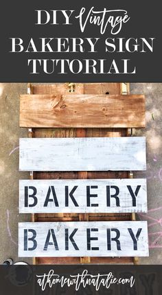 FIVE easy steps to make these Farmhouse and Fixer Upper Inspired Bakery or Market signs! Love how easy and quick it was and now I want to make ALL THE SIGNS. haha.