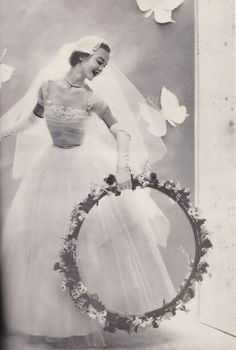 modern brideSpring 1953. Me and my wedding hula hoop plan to be very happy together.