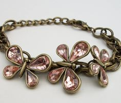 Butterfly Antiqued Gold Multi Chain by Kikiburravictoriana on Etsy, $15.00