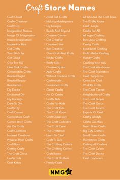 Generate some of the best craft store name ideas with the craft store name generator. Choose your favorite craft store names with this list of craft store names Store Names Ideas, Shop Name Ideas, Business Slogans, Business Names, Craft Shop, Craft Stores, Fashion Store Names, Name For Instagram, Youtube Names