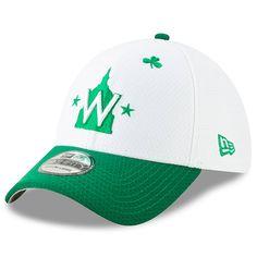 9de86f6da9dfa Men s Washington Nationals New Era White Kelly Green 2019 St. Patrick s Day  39THIRTY Flex