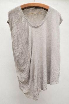 Side shred v neck by Raquel Allegra $224 shopheist.com