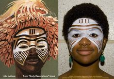 Africa Lobi culture facepaint with agostinoarts