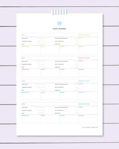 Print our free food diary template, track your eating habits, thoughts, feelings and symptoms, make healthy changes and move toward your fitness goals. http://www.spotebi.com/fitness-tracker/food-diary-template/