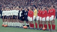 BBC. Is fussball coming home? 5.21.13 Germany and England line up at Wembley ahead of the 1966 World Cup final