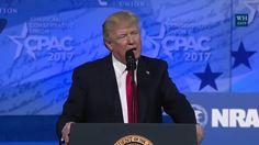 In a sprawling, 48-minute address at the Conservative Political Action Conference (CPAC), Trump promised to follow through on his nationalist agenda while tossing out red meat to his supporters by escalating his attacks on the news media and his felled Democratic opponent, Hillary Clinton.