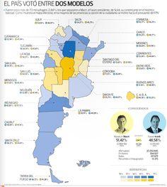 El mapa electoral de Tiempo