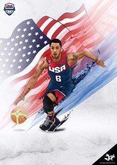 Derrick Rose x USA Team Illustration