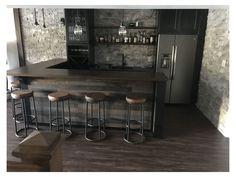 Cave Man, Man Cave Home Bar, Basement Renovations, Home Renovation, Home Remodeling, Basement Bar Designs, Home Bar Designs, Basement Ideas, Home Decor