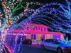 Christmas lights on steroids.