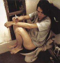 Sarah Lucas - Human Toilet Revisited. Photographic self portrait