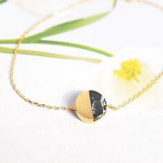Majolie - Bracelet Pleine Lune Noir Or – Majolie - Des bijoux prêts à offrir!