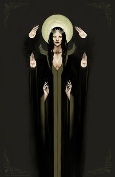 hekate art Supreme goddess by ~MrNat Dark Fantasy Art, Dark Art, Psychedelic Art, Character Inspiration, Character Art, Esoteric Art, Arte Obscura, Art Vintage, Occult Art