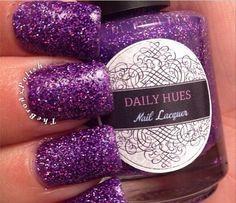 "Meet ""Octavia"" My deep dark and seductive holo glitter purple."