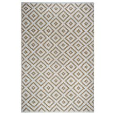 Fab Habitat Indoor Outdoor Floor Mat Rug Handwoven Made from Recycled Plastic Bottles Chanler Kilim Almond & White 3 x 5 (3 x 5), Brown (Polyester, Geometric)