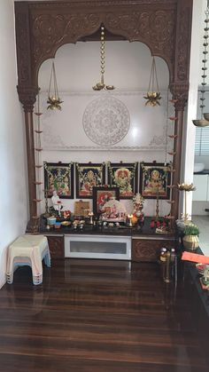 Home Decors and Designs Living rooms Valuable Tips For Memory Foam Mattress Pads Article Body: Memor Pooja Room Door Design, Home Room Design, Home Design Plans, Living Room Designs, House Design, Design Bedroom, Indian Home Decor, Ethnic Home Decor, Temple Design For Home
