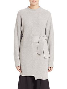 Proenza Schouler - Side Tie Wool & Cashmere Ribbed Sweater