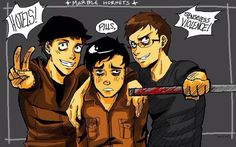 Marble hornets// Not my artwork// Funny! Poor Tim.